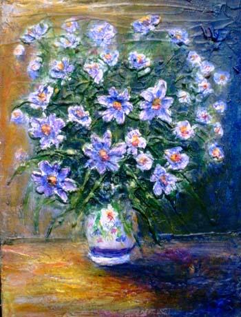 Impressionismo moderno paesaggi toscani e fiori dipinti ad for Vasi di fiori dipinti